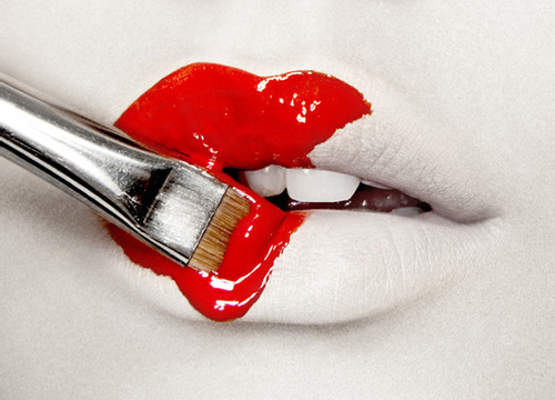 art, epic, lips, love this, paint, paint brush, paintbrush, red