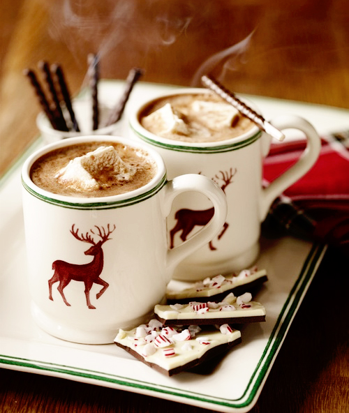 christmas, reindeer, mug, hot chocolate