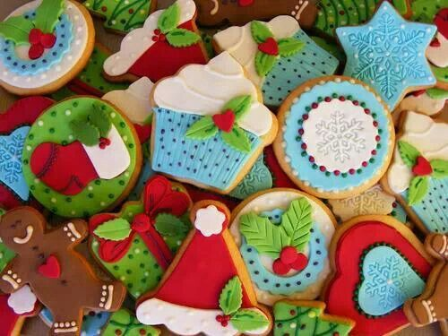 christmas, cookies, gingerbread and santa