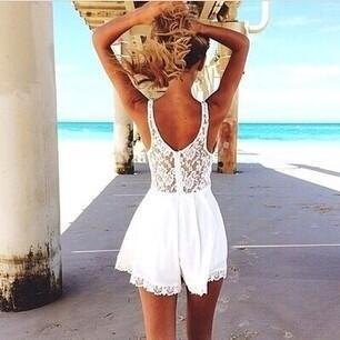clothes, cute, dress, fashion, girl, girly, hair, love, lovely, perfect, sea, style, summer, white, women