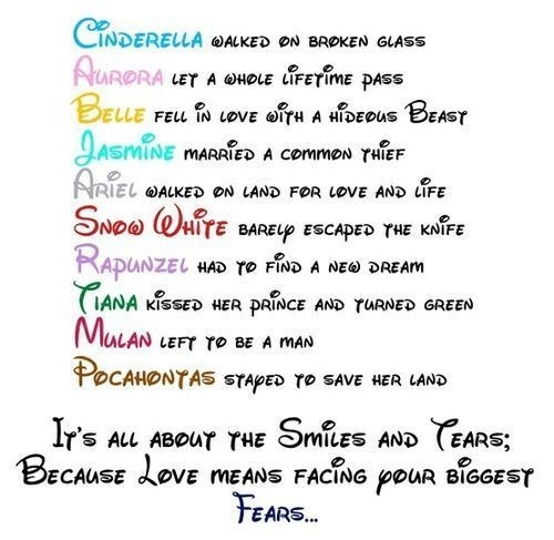 disney princesses, fears, girl power and just girly things