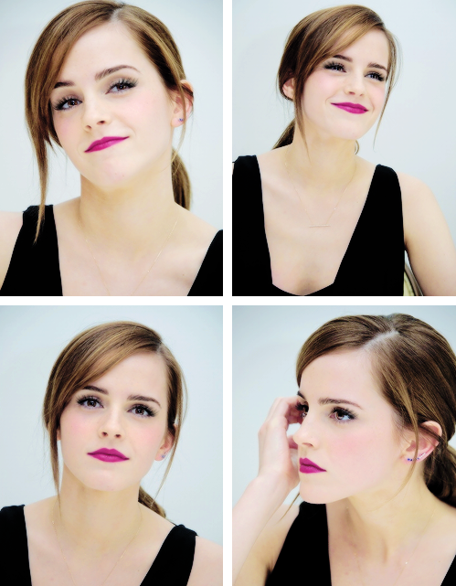 actress, actrice, amazing, beautiful, black dress, cute, emma watson, famous, girl, harry potter, hermione granger, model, purple lips, smile, the best, woman, love from emma, people tree