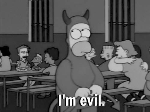 cute, evil, homer and homer simpson