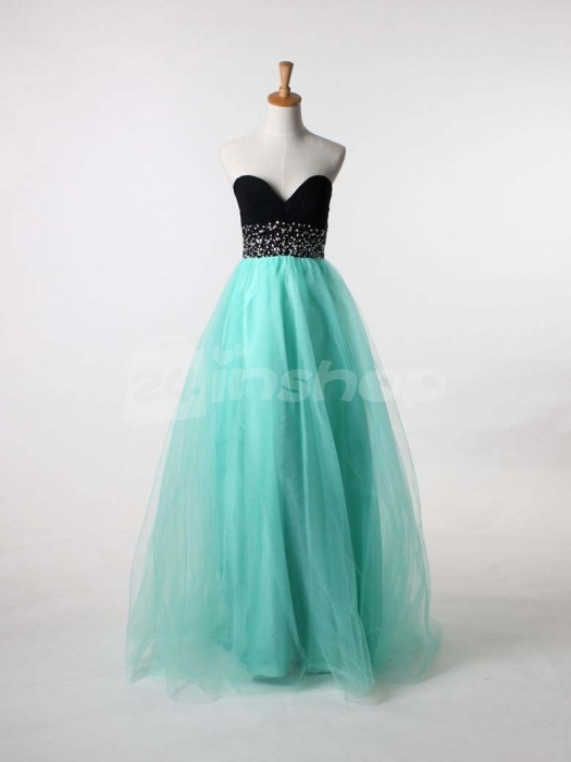 ball gown, black, bling and cheap prom dress