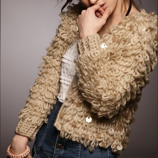 cardigan, embellished, fashion and sequins
