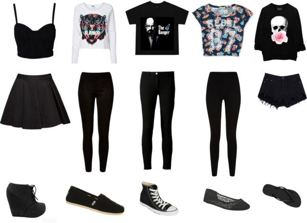 Cute outfits with black and white converse tumblr   Lu0026#39;Epi Du0026#39;or