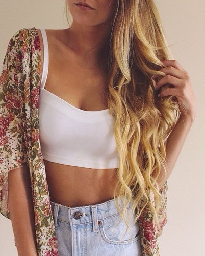 fashion, top, cute, style, outfit, blonde, perfect, flowers