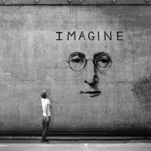 imagine, john lennon, pale and wallpaper