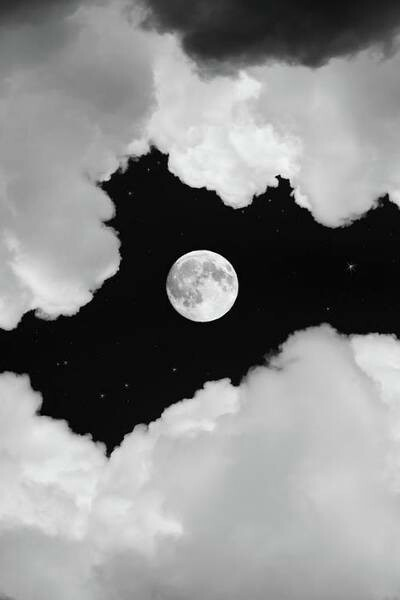 beautiful, black and white, clouds and dark