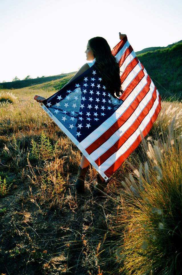 4th of july, american flag, country, photography, summer, tumblr girl, usa