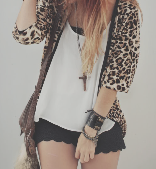 animal print, chica, chicas and cool