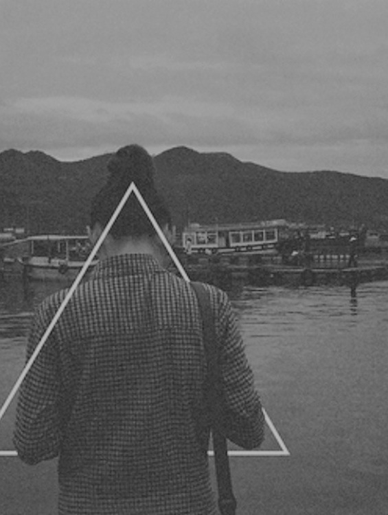 black and white, girl, grunge, hipster, triangle, tumblr ...