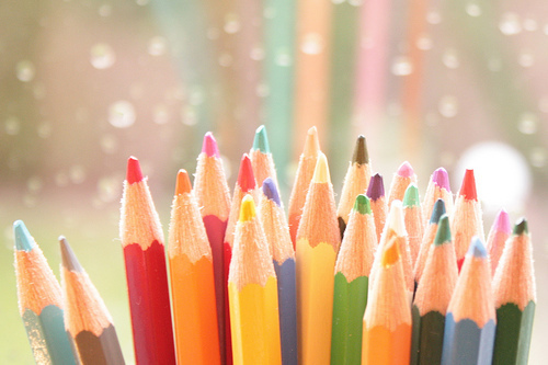 artistic, colorful, colours and crayons