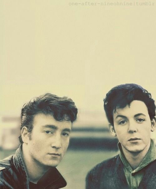 Young John and Paul in Hamburg about 1959 60Young John Lennon And Paul Mccartney