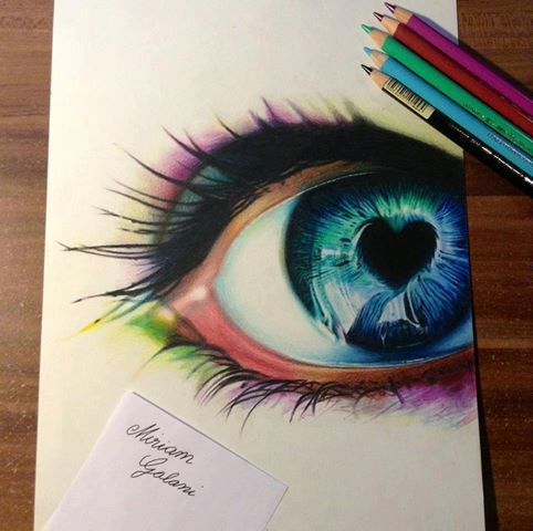 Beautiful drawing blue eyes eye love peace love poems for Really cool drawing ideas