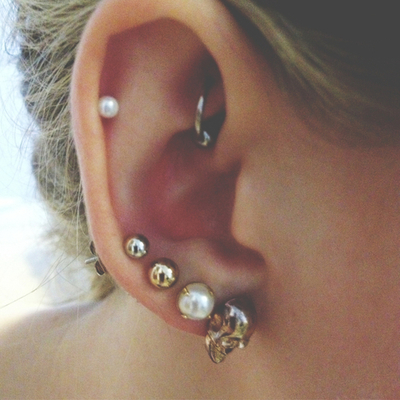 Ear Piercings Tumblr Image 2151973 By Ksenia L On