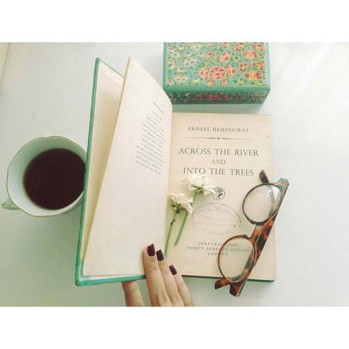 black, book, coffee, glasses, green, indie, nail, style, tea, vintage