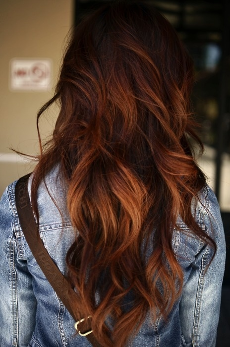 Dark brown hair ombre highlights