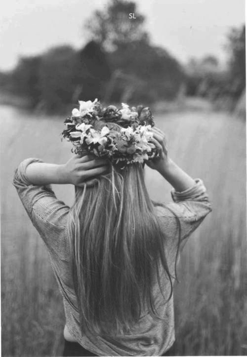 fashion, girl, walking and flower crown