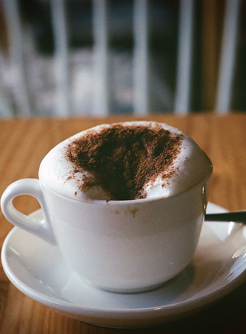 cappuccino, coffee and winter