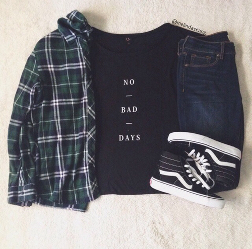 Black cute fashion flannel girl grunge hipster indie love outfit outfits style ...
