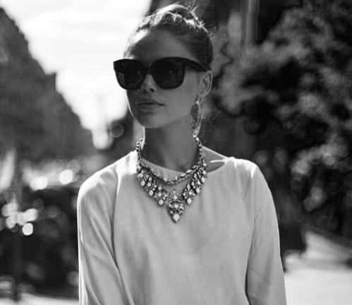 black and white, classy, dot, girl, girls, necklace, preppy, street, style, First Set on Favim.com