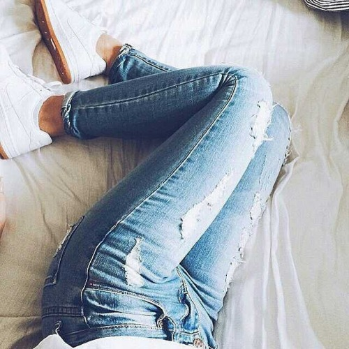 Air Max Fashion Jeans Luxury Nike Ripped Style White Instagram Fashionandstyle55 Image 2416003 By Saaabrina On