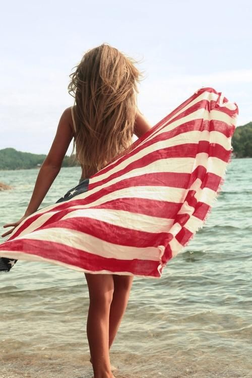american dream, beach, beautiful, cute, flag, free, fun, girl, hair, happy, hipster, love, perfect, shapely, spirit, stars and stripes, summer, usa