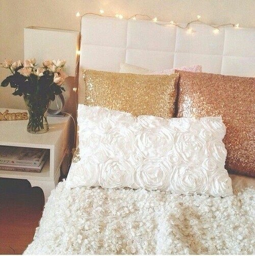 White and Gold Bedroom Decor Tumblr