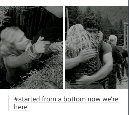 Bellamy And Clarke Kiss