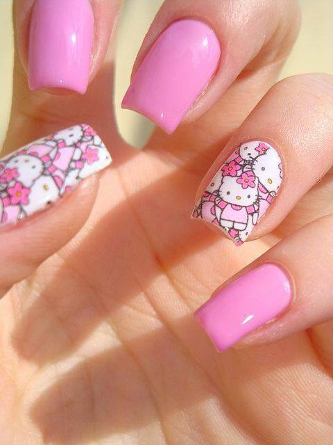 Pictures Of Cute Nail Art Hello Kitty Kidskunstfo