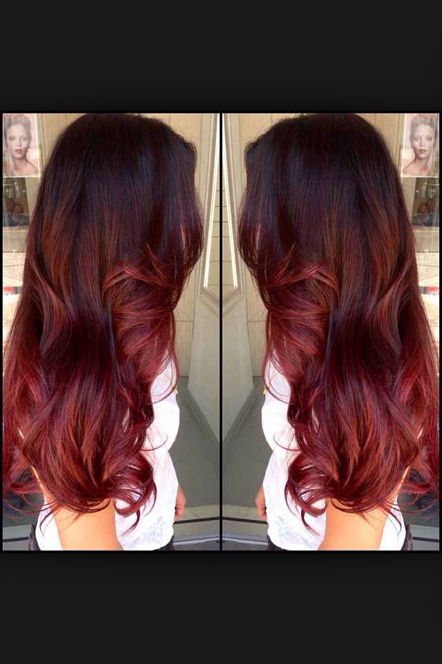 Hair Ombre Red Hair Red Ombre Image 2522192 By