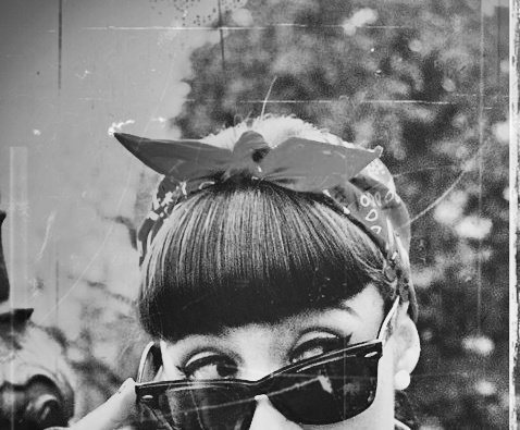 black and white, girl, girly, glasses, grunge, hair, photography, retro, vintage