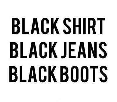 black, boots, jeans and quotes