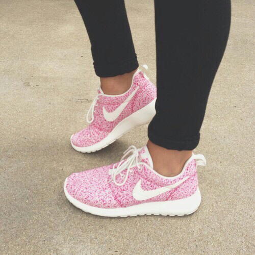 cute fitness floral girly nike shoes nikes pastel
