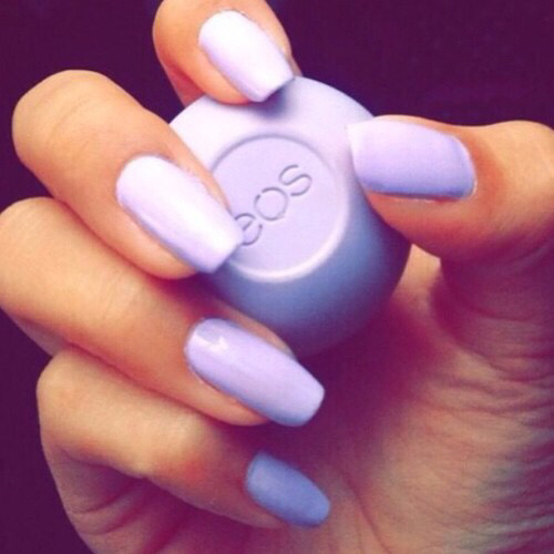 Acrylic Nails Matte White Opal Nails  LongHairPrettyNails