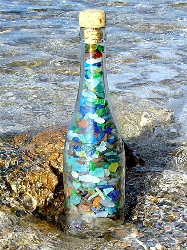 Awesome idea glass bottles recycling for coastal and for Ideas to recycle glass bottles