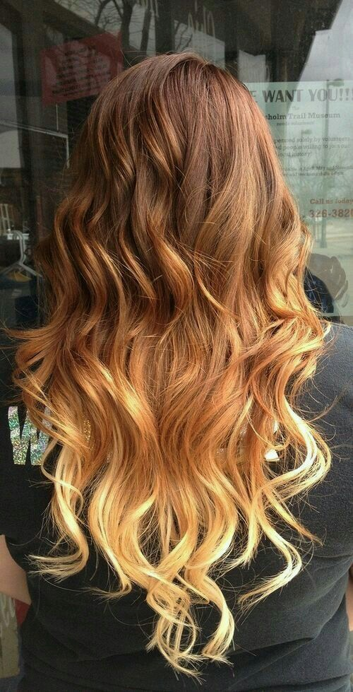 blonde, brown, curls, hair, long, ombre, pretty