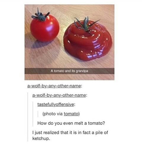 funny, instagram, ketchup and tomato