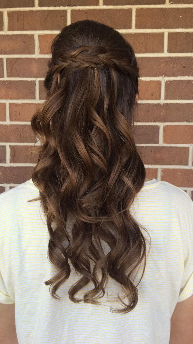 beauty, braided hair, braids, curled hair, hair, homecoming, homecoming hairstyles