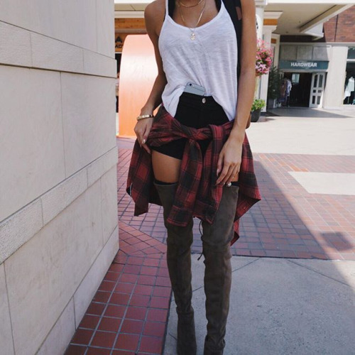 boots, clothes, clothing, fashion, fashion look, girl, outfit, outfits, shirt, shoes, shorts, style