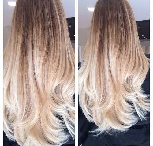 blonde, brown, curled, cute, hair, long, natural, ombre, roots, tips, tumblr, hair goals