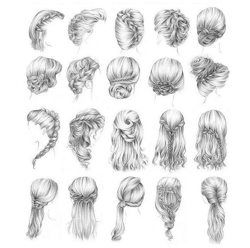 butterflyminiatures new hairstyle drawings