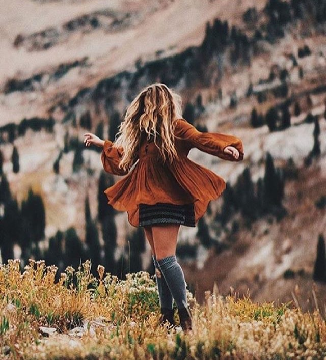 autumn, blond, boho, brown, climb, cold, fall, flowers, forest, freedom, hike, hill, hippie, mountains, orange, red, shoes, style, wanderer, wanderlust, wild, wilderness