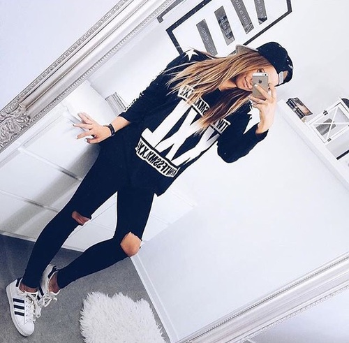 addidas, black, combinations, cool, fashion, girl, iphone, love,