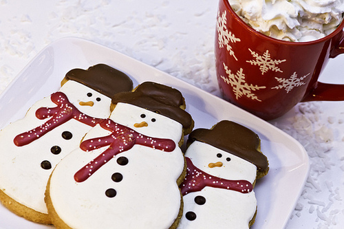 chocolate, christmas, coffee and cookies
