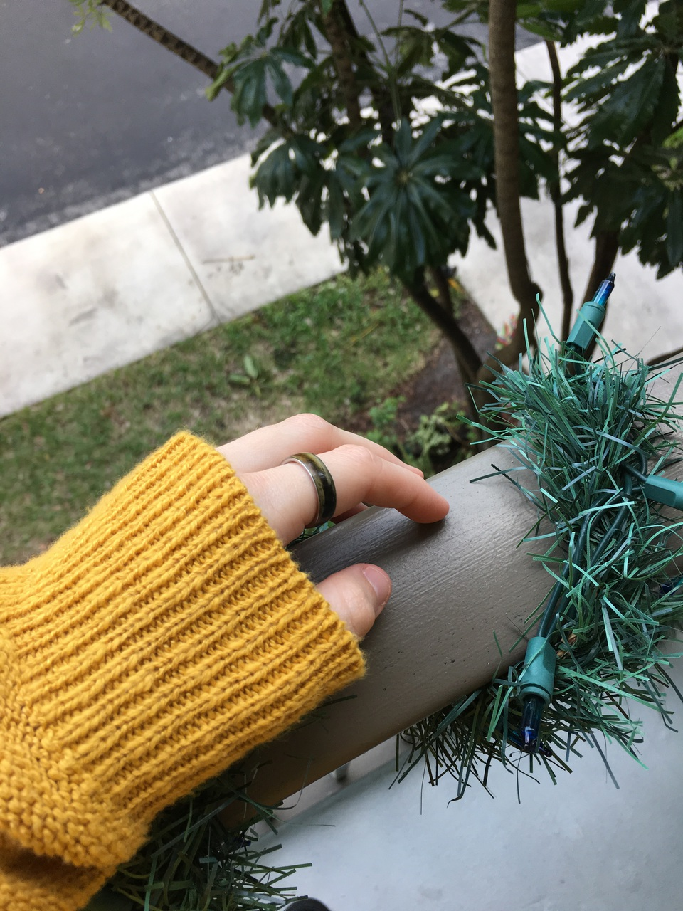 aesthetic, camera, christmas, fairy, fingers, garland, gold, gorgeous, green, grunge, hand, hippie, hipster, indie, knit, lights, model, mood, nails, nature, pale, photography, pretty, railing, ring, skin, sweater, tree, tumblr, yellow, iphone 6s