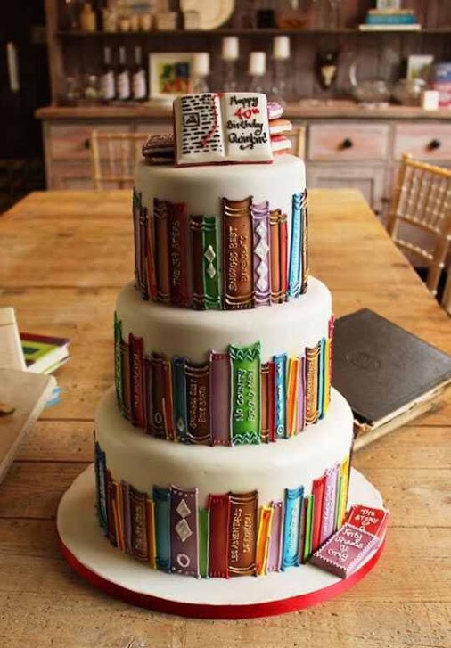 birthday, birthday cake, book lover, books, cake, goals, happy birthday, wow