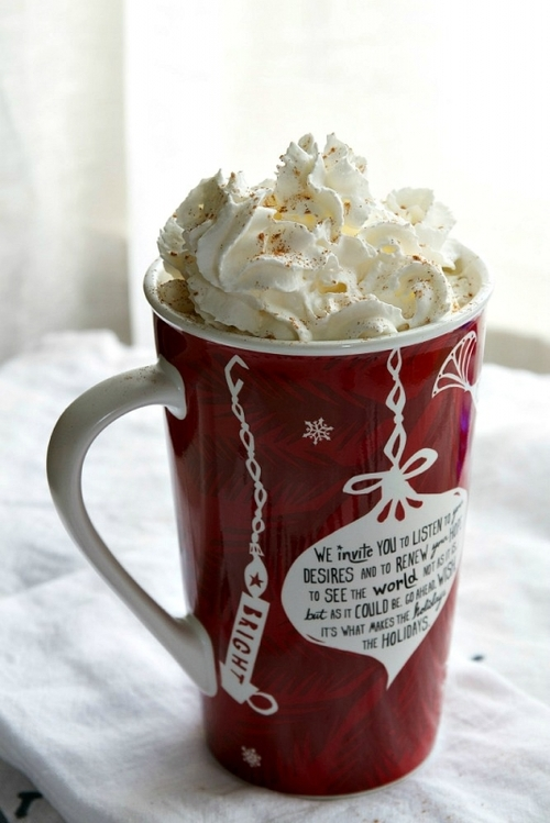 cafe, christmas, coffee, cream, mug