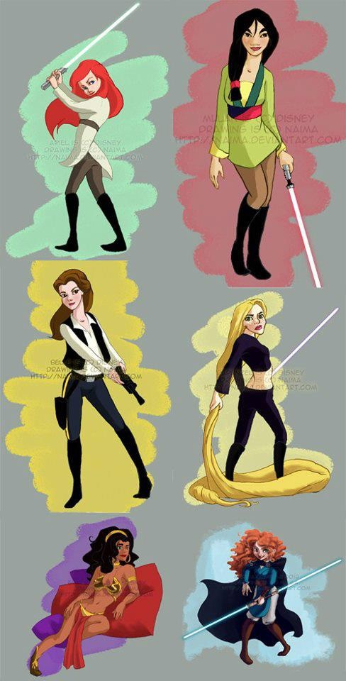 beauty and the beast, disney, jedi, lightsaber, princess, sith, star wars, tangled
